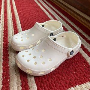 Crocs Original White Slides Clogs Sandals NEW! 6